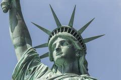 Closeup av statyn av frihet Royaltyfri Fotografi