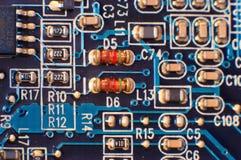 Closeup av strömkretsbrädet Fotografering för Bildbyråer