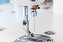 Closeup av symaskinen Royaltyfria Bilder