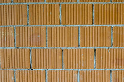 Closeup av tegelstenväggen Royaltyfri Fotografi