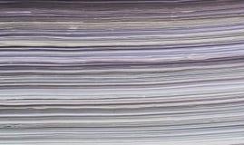 Closeup av textur för pappers- bunt Royaltyfria Bilder