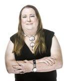 Closeup av Transgenderkvinnan i svart klänning Arkivfoton
