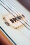Closeup av uppsamlingen för elektrisk gitarr för tappning Arkivfoton