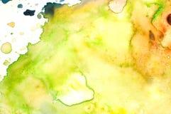Closeup av vattenfärgpaletten arkivbild