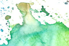 Closeup av vattenfärgpaletten Royaltyfria Bilder