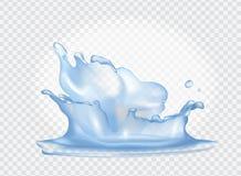Closeup av vattenfärgstänk på vektorillustration Fotografering för Bildbyråer