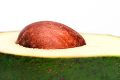 A closeup of avocado pit Royalty Free Stock Photo