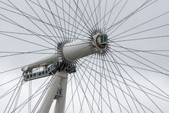 Closeup axis of rotation London Eye in London, England Royalty Free Stock Photography