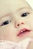 Closeup baby face Royalty Free Stock Photos