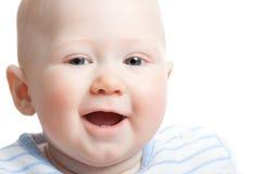 Closeup baby face Stock Photos