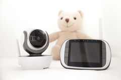 Closeup baby monitor for security of the baby. The closeup baby monitor for security of the baby Royalty Free Stock Image