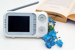 The closeup baby monitor for security of the baby Stock Image
