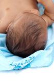 Closeup of a baby's head Royalty Free Stock Photo