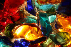 Closeup of back lit stained glass Royalty Free Stock Images
