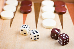 Closeup of backgammon Stock Images