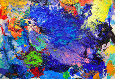 Closeup background of brush and palette Stock Images