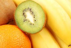 Closeup background from kiwi slice Stock Photography