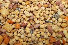Closeup background of seed sunflower chick pea and more Stock Image