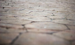 Closeup background texture of old wet pavement. Royalty Free Stock Photo