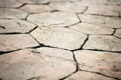 Closeup background texture of old wet pavement. Royalty Free Stock Photos