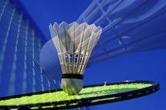 Closeup badminton play stock image