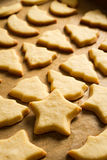 Closeup baked Christmas cookies Royalty Free Stock Images