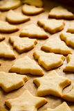 Closeup baked homemade cookies Royalty Free Stock Images