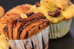 Closeup bakery foodstuffs Royalty Free Stock Photo