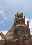 Closeup of Balinese style ancient gate top head Stock Photography