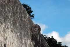 Closeup of Ball Court Wall Royalty Free Stock Photos
