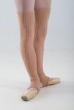 Closeup of ballet shoes dancing in pointe Stock Photos