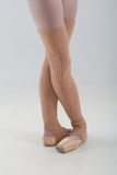 Closeup of ballet shoes dancing in pointe Royalty Free Stock Image