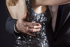 Closeup of ballroom dancing Stock Photos