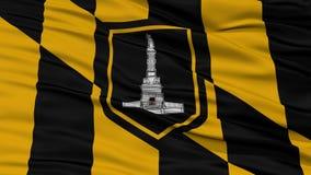 Closeup of Baltimore City Flag Stock Photography