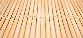 Closeup of a bamboo mat. Horizontal closeup of a bamboo mat Royalty Free Stock Photo