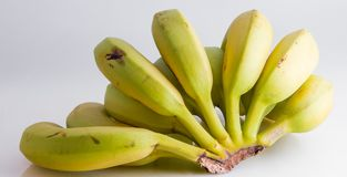 Closeup for banana group. On background royalty free stock photo