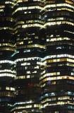 Closeup Bangkok cityscape Modern building at night time,Thailand Royalty Free Stock Photo