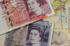 closeup of banknotes royalty free stock image