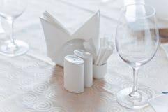 Closeup of banquet table Stock Photos