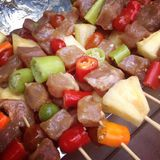 Closeup of barbecue Stock Images