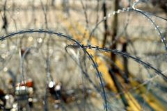 Barbed tape or razor wire Royalty Free Stock Image