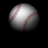 Closeup baseball ball in darkness Stock Photography