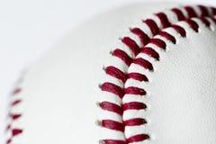 Closeup of baseball white stock image