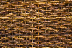 A Closeup of Basket Weave Texture Royalty Free Stock Image