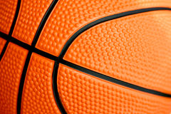 Closeup of basketball Royalty Free Stock Image