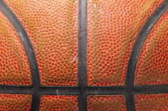 Closeup of a basketball ball Stock Photo