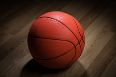 Closeup of basketball ball Stock Photos
