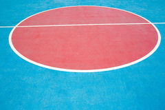 Closeup basketball court. Red and blue,abstract Royalty Free Stock Image