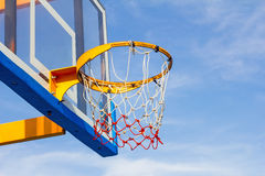 Closeup of basketball hoop Stock Photo