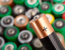 Closeup of battery Royalty Free Stock Photo